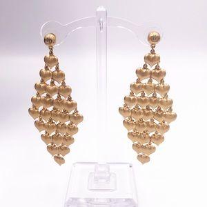 Juicy Couture Cascading Heart Chandelier Earrings